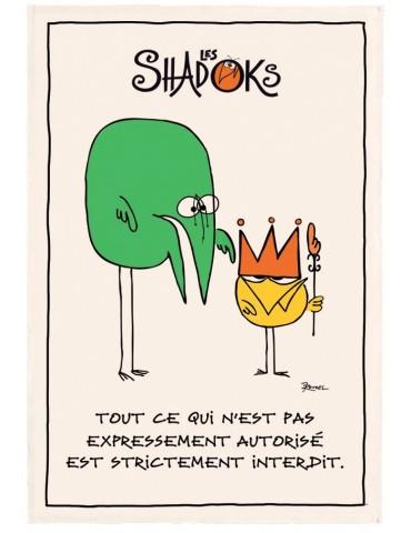 Torchon Shadoks Les interdits Ecru 48 x 72 4427010000Winkler