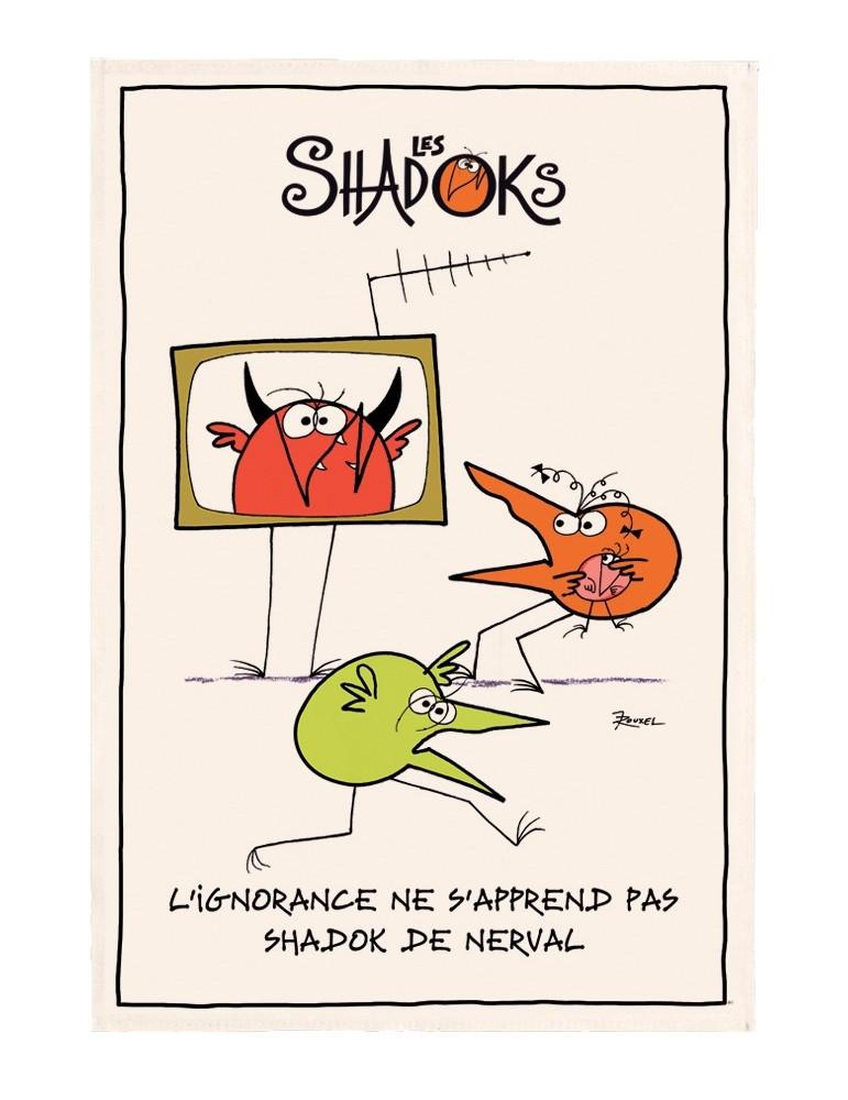 Torchon Shadoks L'ignorance Ecru 48 x 72 4433010000Winkler