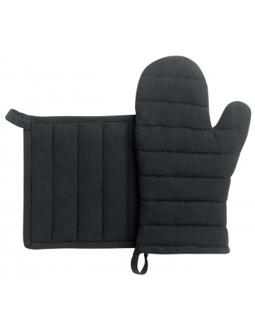 Lot gant/manique recyclé Jona Noir 15 x 30 3706079102Winkler