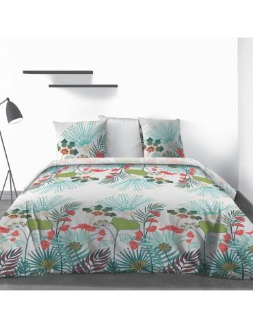 Parure de lit 2 personnes Oika avec drap plat et taies d'oreiller Imprimé 270 x 290 3760000503Les Ateliers du Linge