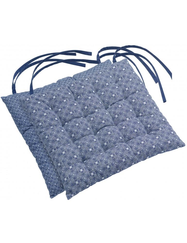 Galette de chaise Berbère Bleu 38 x 38 x 3 cm 2040060000Les Ateliers du Linge