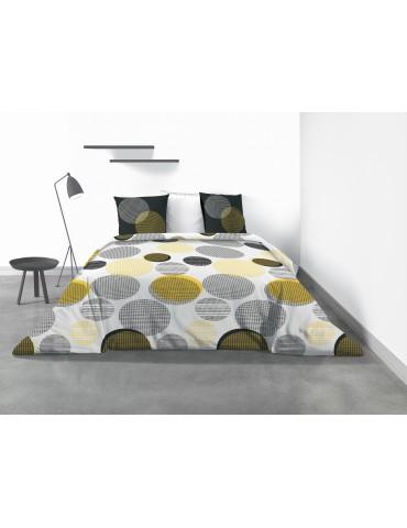 Parure de lit 2 personnes Stitchy avec housse de couette et taies d'oreiller Imprimé 260 x 240 4309000503Les Ateliers du Linge