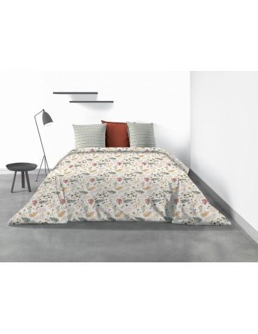 Parure de lit 2 personnes Gardenia avec housse de couette et taies d'oreiller Imprimé 240 x 220 4321000503Les Ateliers du Linge