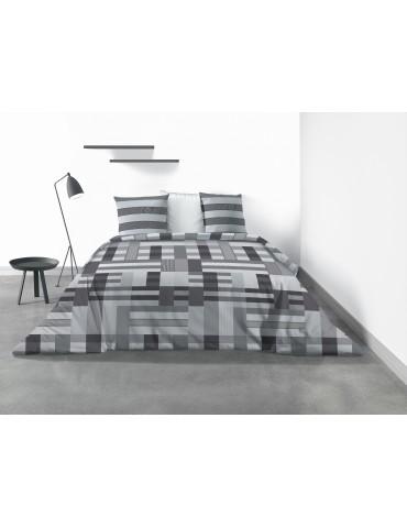 Parure de lit 2 personnes Damo avec housse de couette et taies d'oreiller Imprimé 260 x 240 4332000503Les Ateliers du Linge