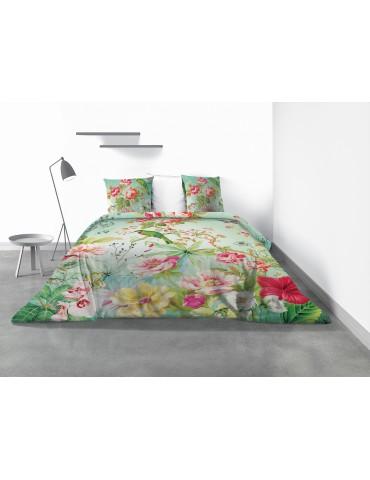 Parure de lit 2 personnes Paradis avec housse de couette et taies d'oreiller Imprimé 260 x 240 4198000503Les Ateliers du Linge
