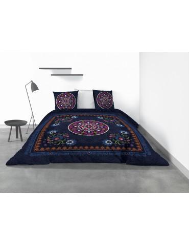 Parure de lit 2 personnes Indira avec housse de couette et taies d'oreiller Imprimé 260 x 240 4220000503Les Ateliers du Linge