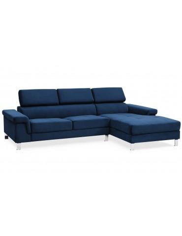 Canapé d'angle en velours Vex Bleu 1192rightvelvetblue