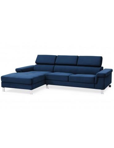 Canapé d'angle en velours Vex Bleu 1192leftvelvetbleu