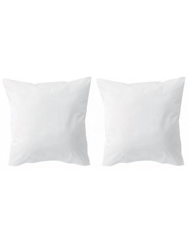 Lot de 2 protèges oreillers microfibre Blanc 65 x 65 5318013502Les Ateliers du Linge