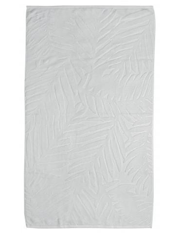Serviette de toilette uni Palme Blanc 50 x 90 4815010601Les Ateliers du Linge