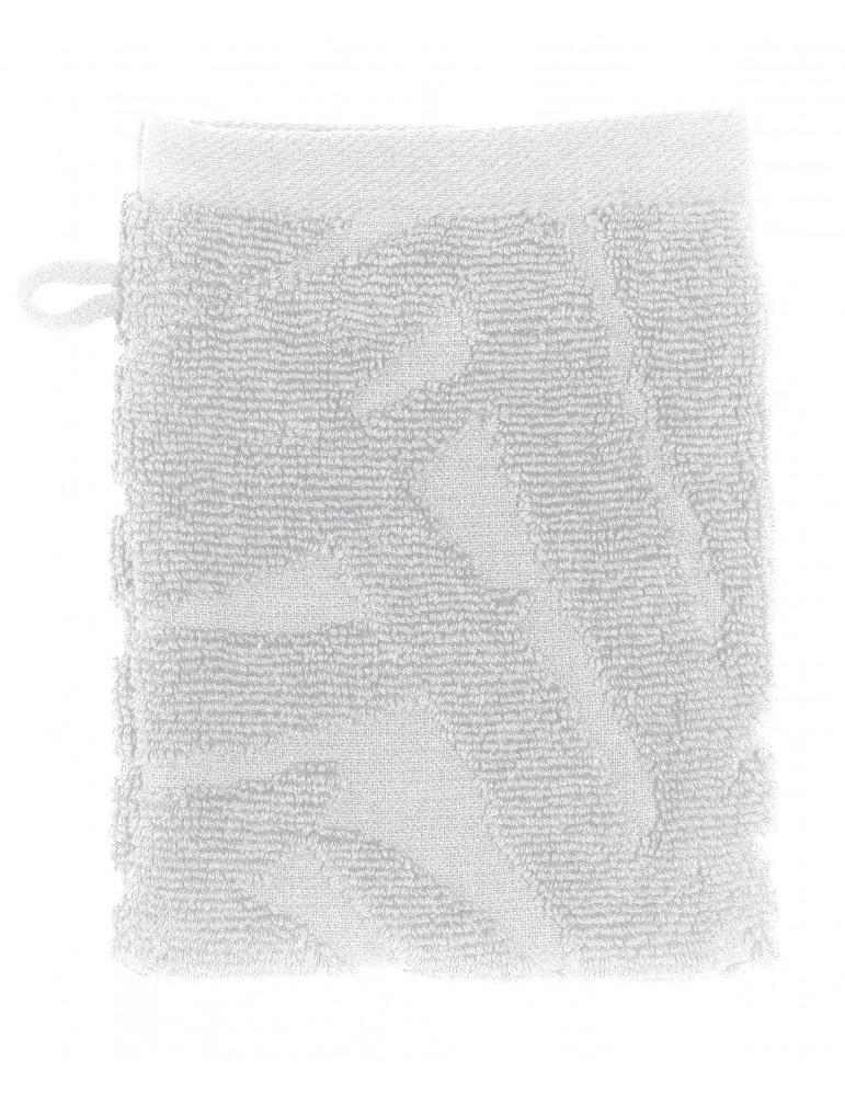 2 gants de toilette Palme Blanc 15 x 21 4491010602Les Ateliers du Linge