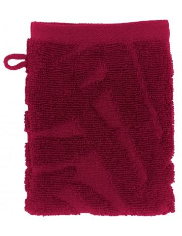 2 gants de toilette Palme Cerise 15 x 21 4491035602Les Ateliers du Linge