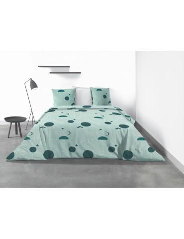 Parure de lit 2 personnes Hawak avec housse de couette et taies d'oreiller Imprimé 240 x 260 4064000503Les Ateliers du Linge