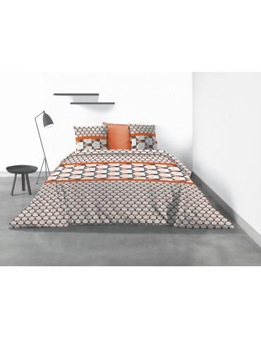 Parure de lit 2 personnes Arrow avec housse de couette et taies d'oreiller Imprimé 240 x 260 4093000503Les Ateliers du Linge