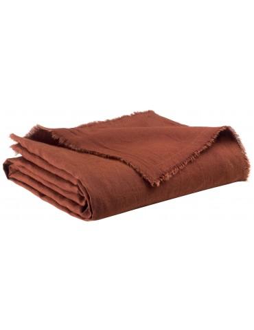 Plaid Zeff nomade Caramel 130 x 180 2437088000Vivaraise