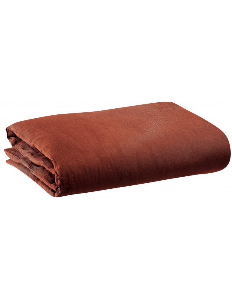Housse de couette stonewashed Zeff Caramel 240 x 220 1308869000Vivaraise