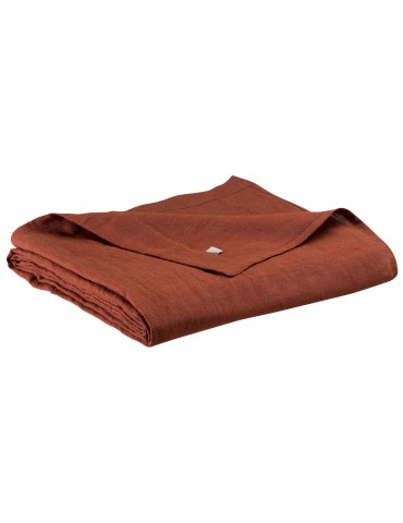 Drap plat stonewashed Zeff Caramel 240 x 300 1308871000Vivaraise