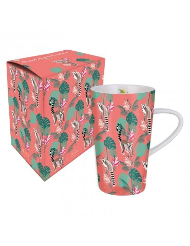 Grand mug 420ml avec sa boite cadeau Savane Lémurien MUGGM19S04Kiub