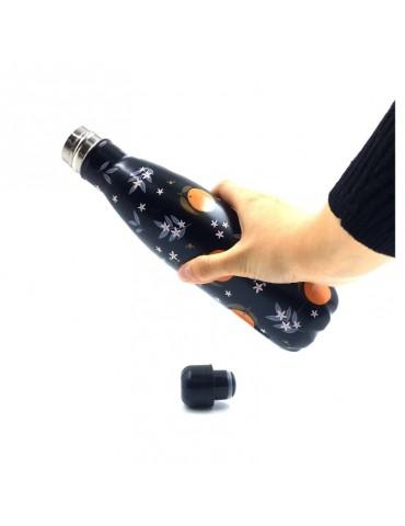 Bouteille isotherme 500ml orange et noir BOUTH21U003Kiub