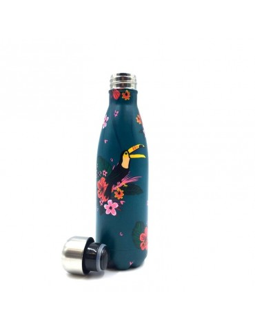 Bouteille isotherme 500ml Jungle toucan BOUTH18R01 TKiub