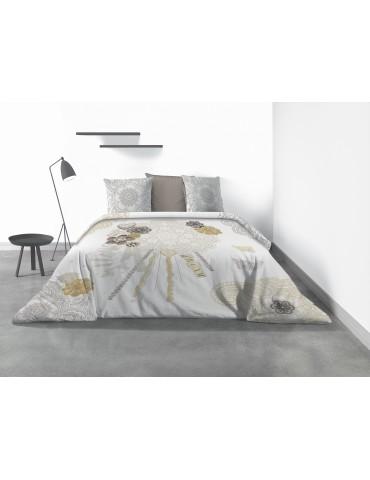 Parure de lit 2 personnes Sweet Dream avec housse de couette et taies d'oreiller Imprimé 260 x 240 4145000503Les Ateliers du ...