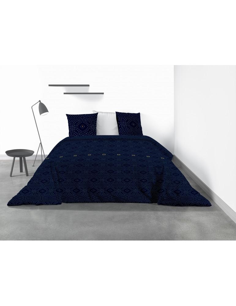 Parure de lit 2 personnes Pavi avec housse de couette et taies d'oreiller Imprimé 240 x 220 4336000503Les Ateliers du Linge