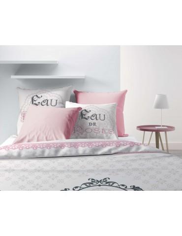 Parure de lit 2 personnes Eau de rose avec housse de couette et taies d'oreiller Imprimé 240 x 220 4353000503Les Ateliers du ...