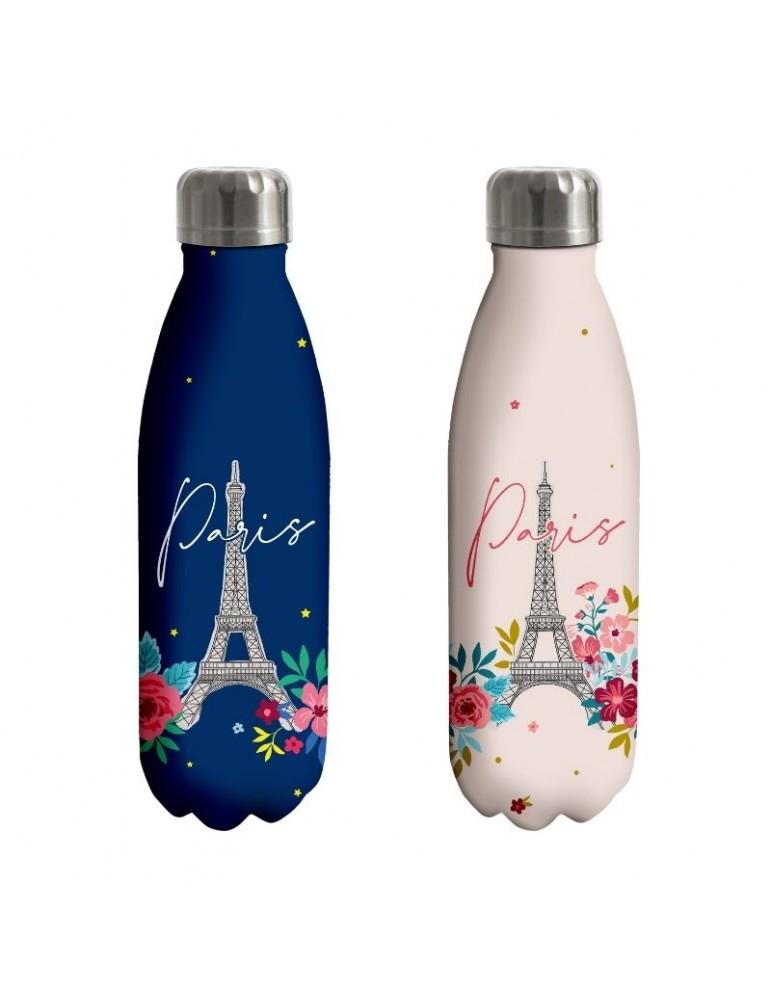 Lot de 2 bouteilles isotherme 500ml Paris en fleurs LOTBOUTH20T01Kiub