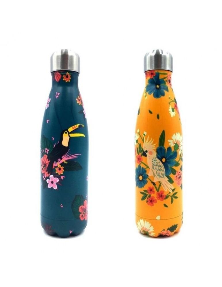 Lot de 2 bouteilles isotherme 500ml Jungle LOTBOUTH18R01Kiub