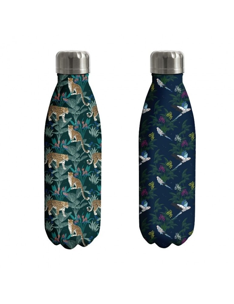 Lot de 2 bouteilles isotherme 500ml Savane léopard oiseau LOTBOUTH19S01LOKiub