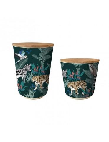 Lot de 2 pots Bamboo Savane BBRP19S01-02Kiub