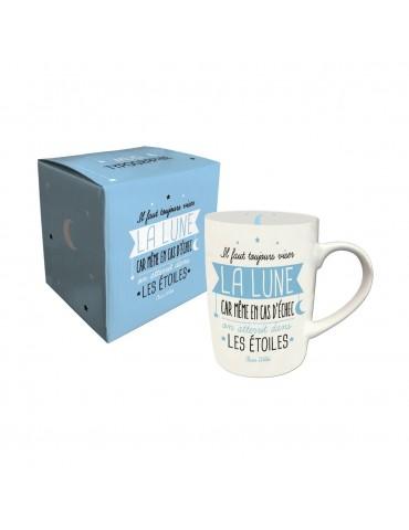 Lot de 2 mugs message bleu et rose 370ml MUG05E02-03Kiub