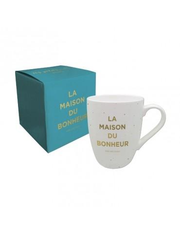 """Mug """"La maison du bonheur"""" 370ml avec sa boite cadeau MUG12L01Kiub"""