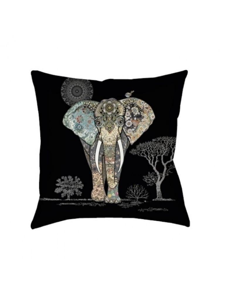 Coussin garni carré Bug Art Jewels Eléphant 35x35cm COU03C01Kiub