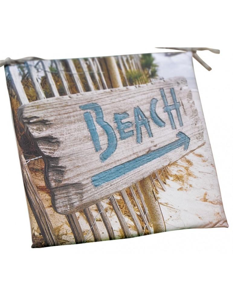 Galette de chaise plate Imprimée Outdoor Imprimé Beach 38 x 38 x 2 cm 2155093000Les Ateliers du Linge