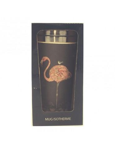 Mug isotherme en bamboo 420ml Flamant rose MUGBAM03C02Kiub