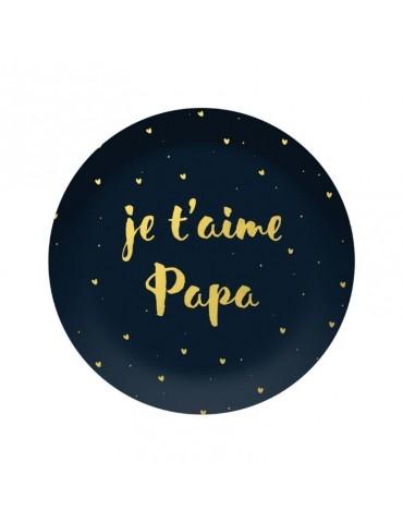"""Presse papier dôme """"Je t'aime papa"""" BVPP12L02Kiub"""