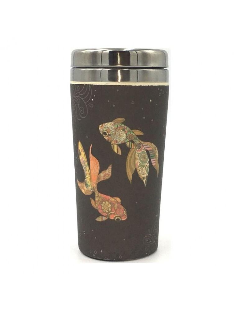 Mug isotherme en bamboo 420ml Poissons MUGBAM03C03Kiub