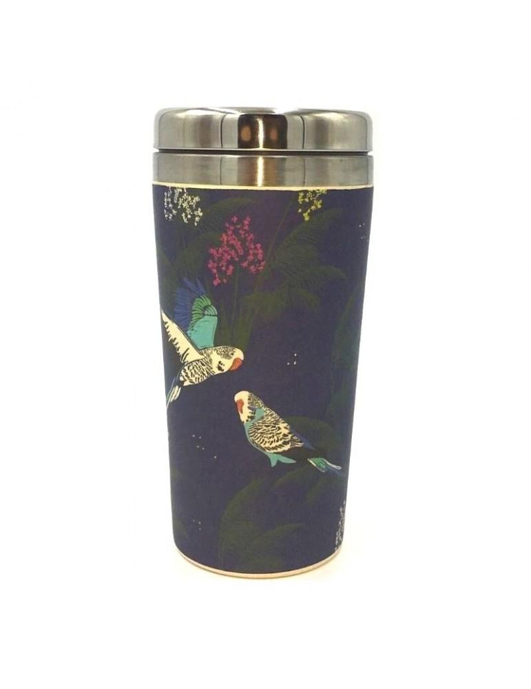 Mug isotherme en bamboo 420ml Savane Oiseaux MUGBAM19S03Kiub