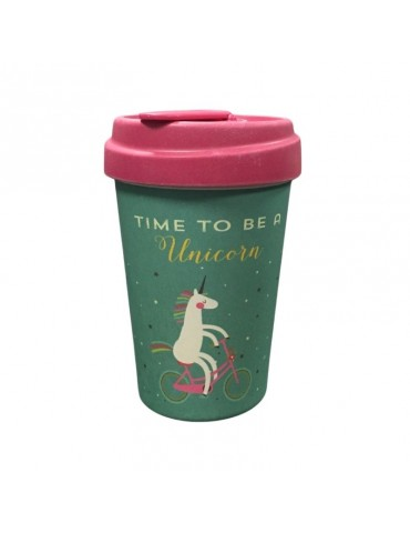 Mug de voyage chic mic Time for unicorns licorne 400 ml Bamboo Cup CMBCP205Kiub