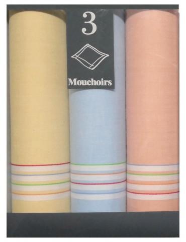 Boîte de 3 mouchoirs Diffusion femme Claire Assortis 29 x 29 5814090703Winkler