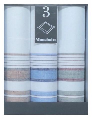 Boîte de 3 mouchoirs Diffusion homme Gilles Blanc 40 x 40 5818090703Winkler