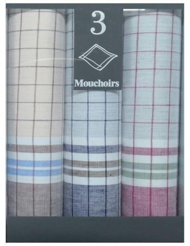 Boîte de 3 mouchoirs Diffusion homme Romuald Blanc 40 x 40 5829090703Winkler