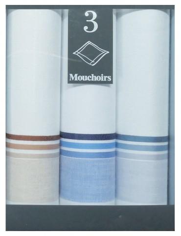 Boîte de 3 mouchoirs Diffusion homme José Blanc 40 x 40 5830090703Winkler