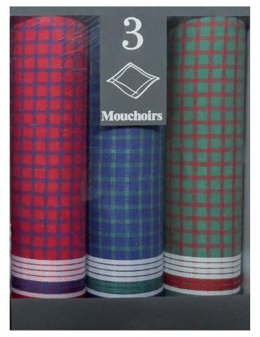 Boîte de 3 mouchoirs Diffusion homme Joan Blanc 40 x 40 5831090703Winkler