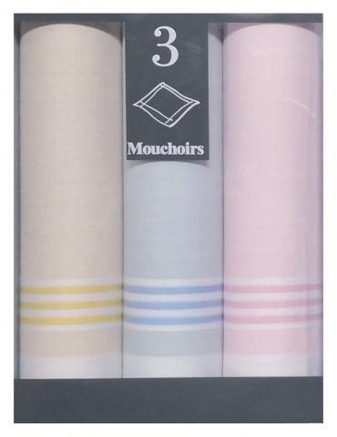 Boîte de 3 mouchoirs Diffusion femme Louison Assortis 29 x 29 5776090703Winkler