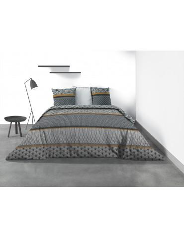 Parure de lit 2 personnes Yoko avec housse de couette et taies d'oreiller Imprimé 260 x 240 7830000503Les Ateliers du Linge