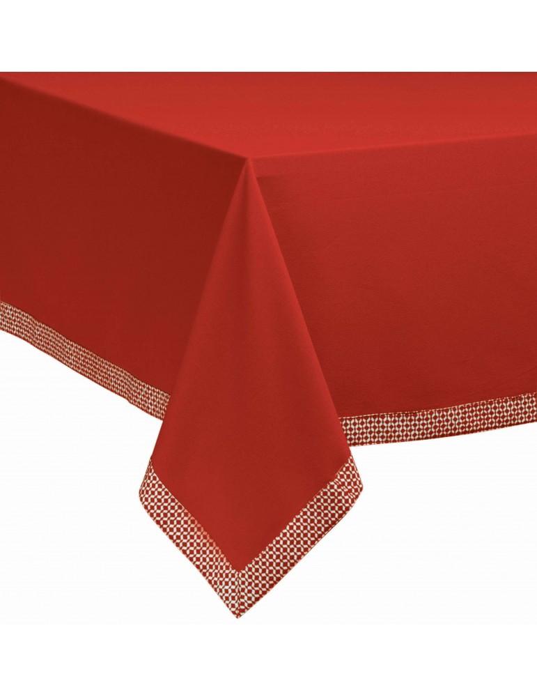 Nappe Tosca Rouge 150 x 250 4329091000Les Ateliers du Linge