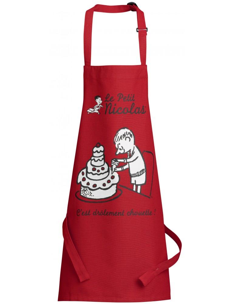 Tablier de cuisine enfant Le petit Nicolas Pièce monté Rouge 52 x 63 7143030000Winkler