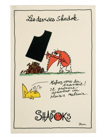 Torchon Shadoks Le travail Ecru 48 x 72 6232010000Winkler